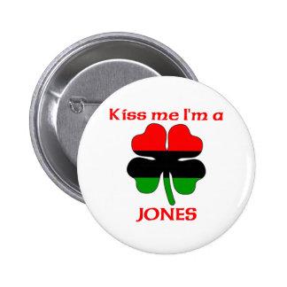 Personalized African American Kiss Me I'm Jones Pin