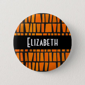 Personalized african tribal pattern pinback button