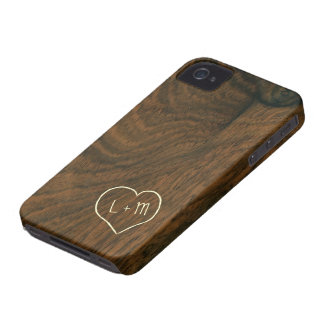 Personalized Aged Mahogany Wood Texture iPhone 4 Cases