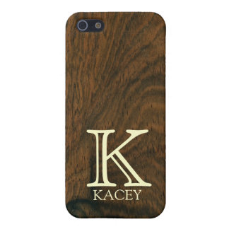 Personalized aged mahogany wood texture iPhone SE/5/5s case