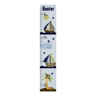Personalized Ahoy Mate/Sailboat/Whale Growth Chart