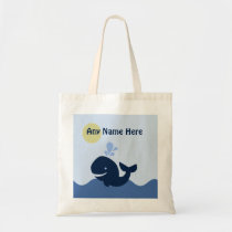 Personalized Ahoy Mate/Whale/Sailboat Tote Bag