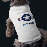 """Personalized Air Force Logo Dog Shirt<br><div class=""""desc"""">Your dog will fly high in this unique Air Force Logo dog shirt customizable with your dog&#39;s name.</div>"""