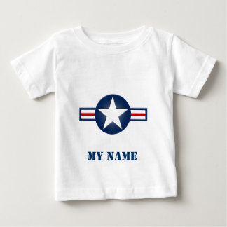 Personalized Air Force Logo Infant Shirt