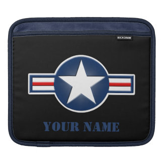 Personalized Air Force Logo iPad Sleeve