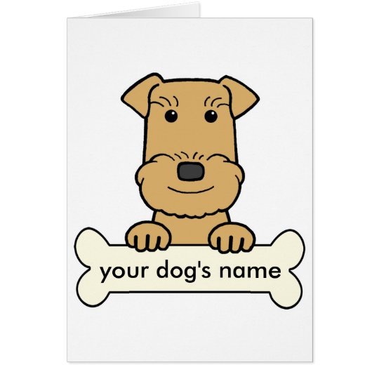 Personalized Airedale Card
