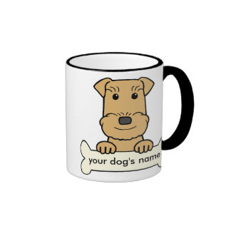 Personalized Airedale Ringer Mug