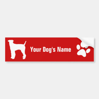 Personalized Airedale Terrier エアデール・テリア Bumper Sticker