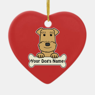 Personalized Airedale Terrier Ceramic Ornament
