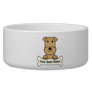 Personalized Airedale Terrier Pet Bowl