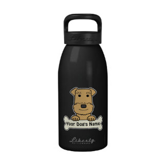 Personalized Airedale Terrier Drinking Bottles