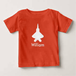 Personalized Airplane Fighter Jet Kids Tee