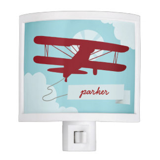 Personalized Airplane Night Light
