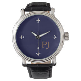 personalized airplane theme watch