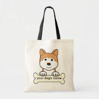 Personalized Akita Bags