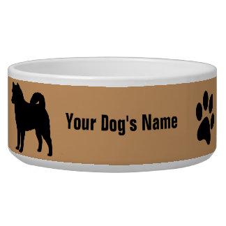 Personalized Alaskan Malamute アラスカン・マラミュート Dog Food Bowl