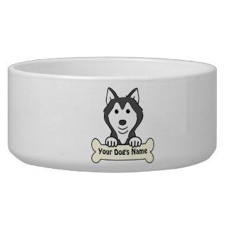 Personalized Alaskan Malamute Pet Bowls