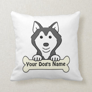 Personalized Alaskan Malamute Pillow