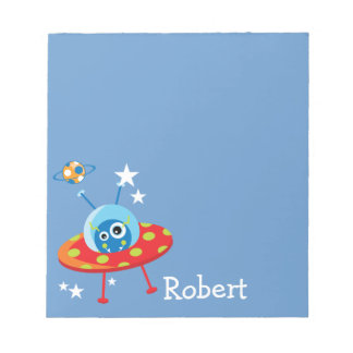 Personalized Alien Spaceship Notepad