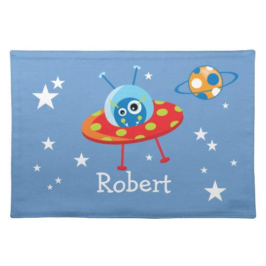 Personalized Alien Spaceship Placemat