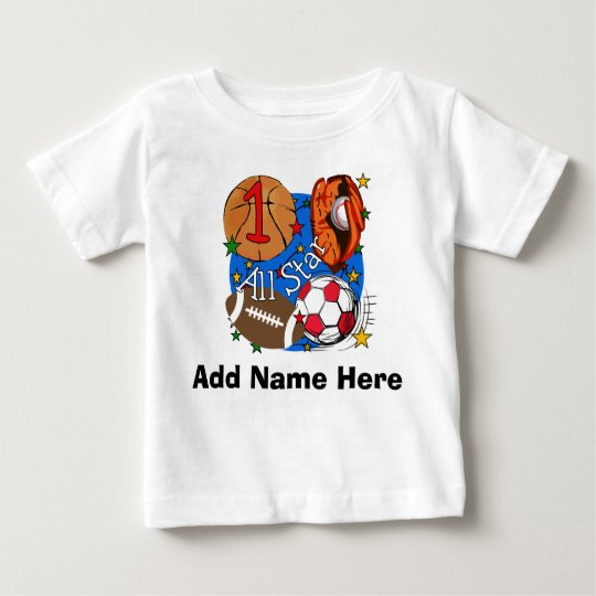 Personalized All Star 1st Birthday T-shirt