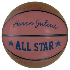 Personalized All Star Basketball at Zazzle