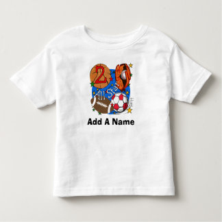 Personalized All Star Sports 2nd Birthday Tshirt