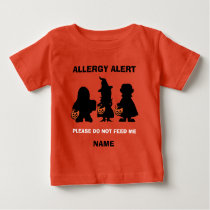 Personalized Allergy Alert Halloween Do Not Feed Baby T-Shirt