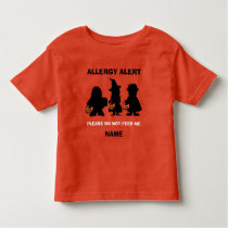 Personalized Allergy Alert Halloween Do Not Feed Toddler T-shirt