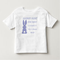 Personalized Allergy Alert Purple Easter Bunny Toddler T-shirt