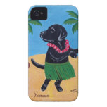 Personalized Aloha Black lab Painting iPhone 4 Cases