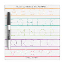 Personalized Alphabet Tracing Practice White Board