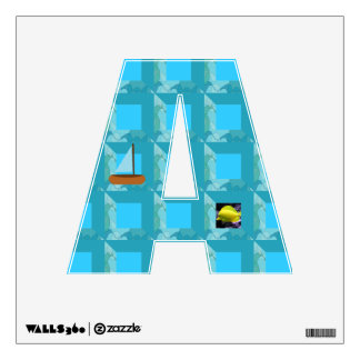 Personalized alphabet wall decal
