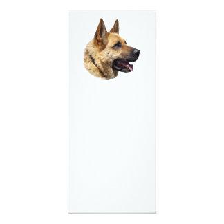 Personalized Alsatian German Shepherd dog 4x9.25 Paper Invitation Card