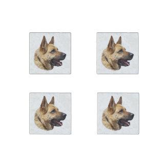 Personalized Alsatian German shepherd dog Stone Magnet