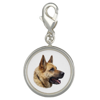 Personalized Alsatian German shepherd dog Photo Charm