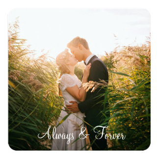 "Personalized  ""Always & Forever"" Photo Border Card"
