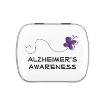 Personalized Alzheimers Awareness Purple Butterfly Candy Tins