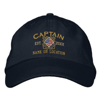 Personalized American Captain Nautical Embroidery Embroidered Baseball Cap
