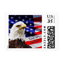 Personalized American Eagle and Flag Stamps