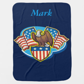Personalized American Eagle Baby Blanket