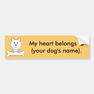 Personalized American Eskimo Dog Bumper Sticker