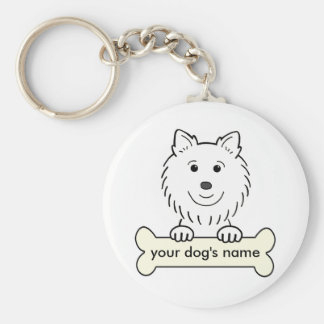 Personalized American Eskimo Dog Keychain