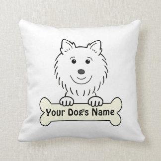Personalized American Eskimo Throw Pillows