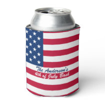Personalized American Flag Can Cooler