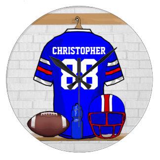 Personalized American Football Grid Iron jersey Wall Clock