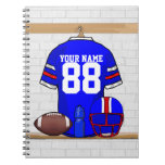 Personalized American Football Grid Iron jersey Note Book