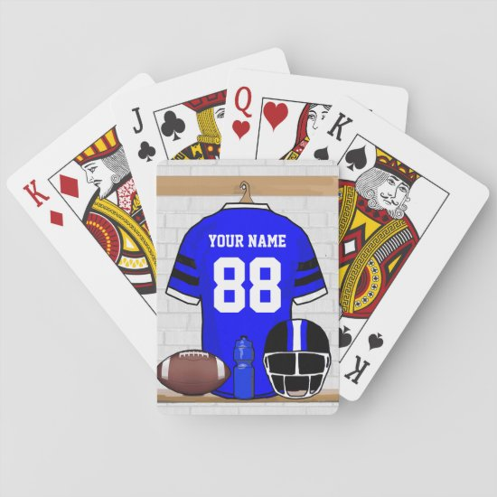 Personalized American Football Grid Iron jersey Playing Cards