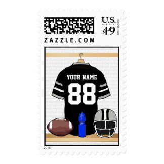 Personalized American Football Grid Iron jersey Stamps