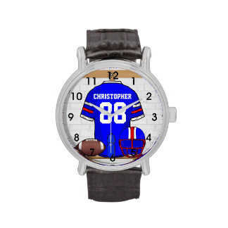 Personalized American Football Grid Iron jersey Watches